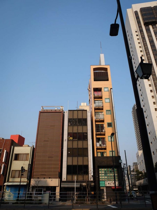 Tall, thin building in Asakusa